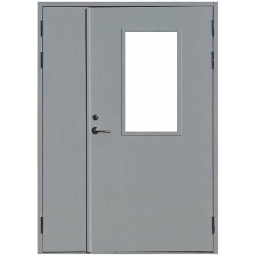 металлические двери с остеклением от производителя